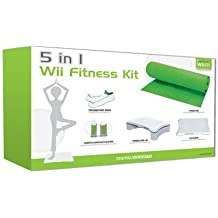 Digital Gadgets 5-in-1 Wii Fit Bundle: Includes Step Holsters Socks Silicone Sleeve and Yoga Mat