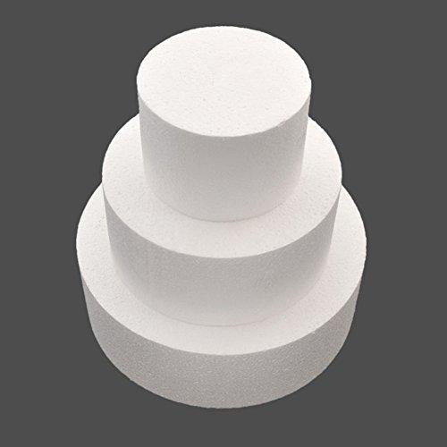 "Bluelans Round Styrofoam Cake Dummy 4""/ 6""/ 8"" (Cake Dummy Set (4"" 6"" 8""))"
