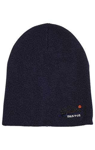 Uy7 Superdry Beanie Black Orange Eclipse de Navy Punto Grit Label Gorro Azul para Hombre OOqx4R