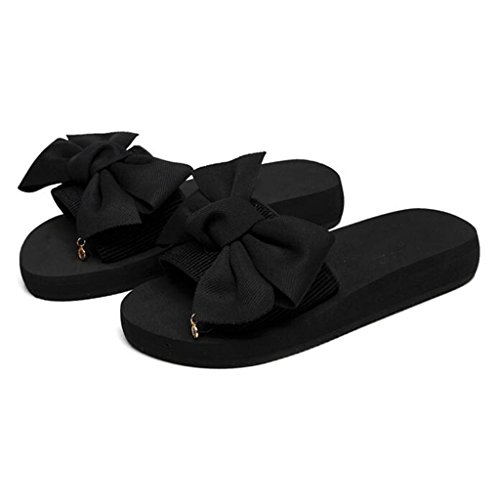 Piso Y Inferior Tamaño cn35 uk3 Outdoor Black Sandalias Beach Arcos Sand Cafe Chanclas Shoes Eu36 Muma color 5 Thick Color Slip Bottom Slippers Mujeres wqY0U5f