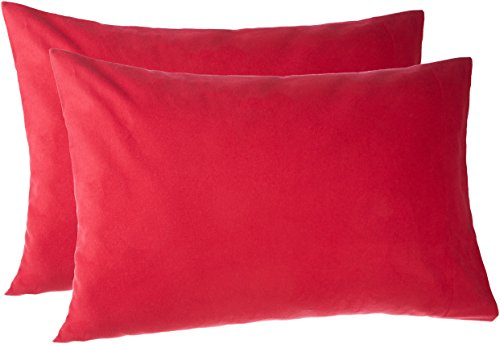 Pinzon 170 Gram Flannel Pillowcases - Standard, Merlot Red