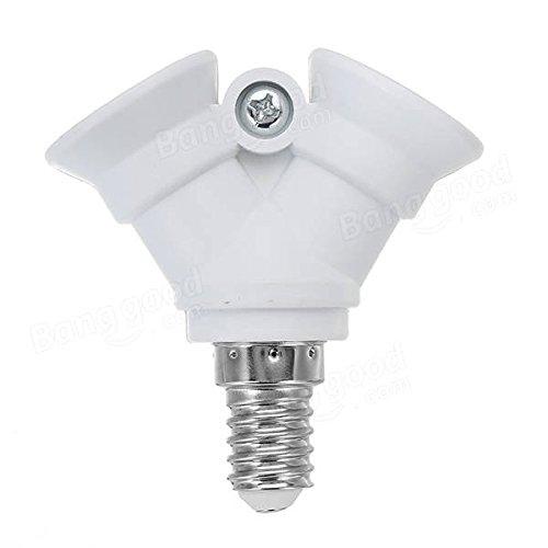 230/V One E14/zu zwei E14/Leuchtmittel Adapter Lampenfassung Splitter Konverter Sockel f/ür halgon Licht Bazaar AC100