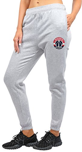 NBA Washington Wizards Women's Jogger Pants Active Logo Fleece Sweatpants, Small, Gray