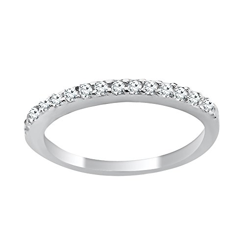 DTLA Ladies Thin Band .925 Sterling Silver Micro Pave Cubic Zirconia (7) by DTLA Fine Jewelry (Image #2)