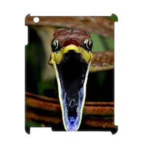 Snake Unique Design 3D Cover Case for Ipad2,3,4,custom cover case ygtg534267