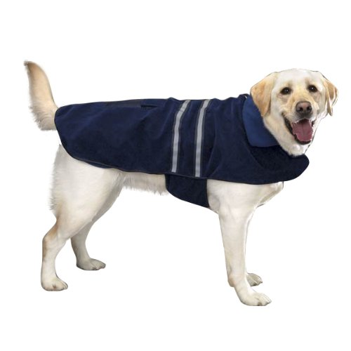 - Casual Canine Fleece-Lined Reflective Dog Jacket for Safety, Blue, X-Large
