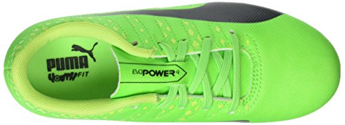 Puma Evopower Vigor 4 Ag Jr, Botas de Fútbol Unisex Niños Verde (Green Gecko-puma Black-safety Yellow 01)