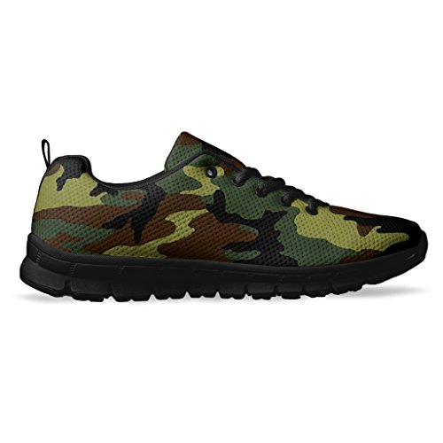 AllAmbitions Men's Camouflage Running/Athletic Sneakers Size 12 Black