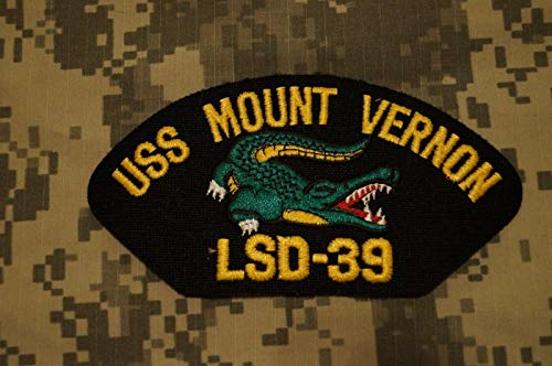 New US Navy USS Mount Vernon LSD-39 w/Alligator Embroidered Cap Military Patch