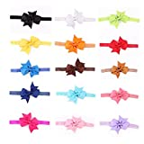 Clearance Deal! Baby Girls Kids Cute Bowknot Headbands Hair Bows Hair Band Accessories for Toddler Infant Gifts (Multicolor - 16 pcs)