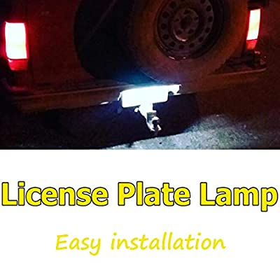 UTSAUTO 12V LED License Plate Lamp Light with Rubber Pad for Truck SUV Trailer Van RV, Dome/Cargo Lights (4 Pack): Automotive