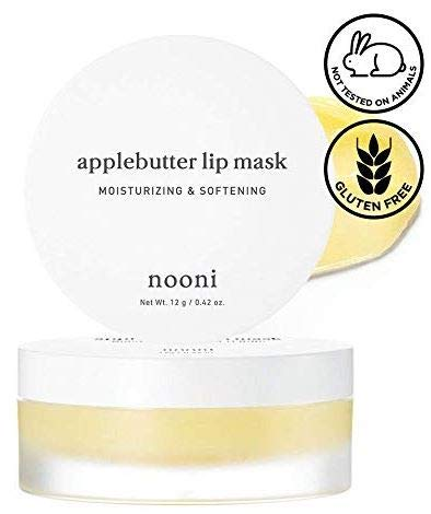 NOONI Applebutter Lip Mask | Korean Skin Care Sleep Mask for Your Lips | Lip Moisturizer for Lip Care and Lip treatment | Korean Beauty Secrets for Amazing Lips| Non-animal tested, Paraben-free