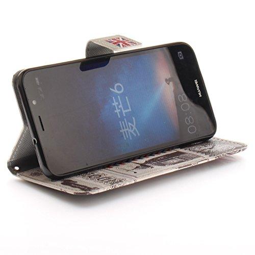 Carcasa Huawei Mate 10 Lite, Huawei Mate10 Lite Funda, Vandot PU Cuero Estuche Libro Funda con Tapa Elegante Funda Piel Cobertura Protectora Carcasa Capa PU Leather Flip Case Cover Phone Shell Bumper  TXPT 10