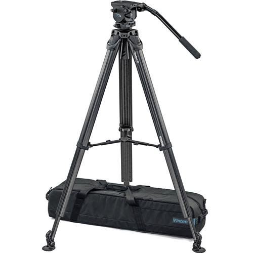 Vinten Vision Blue5 Head with flowtech 75 Carbon Fiber Tripod and Mid-Level Spreader, 44 lbs Tripod Capacity, 62 Maximum Height