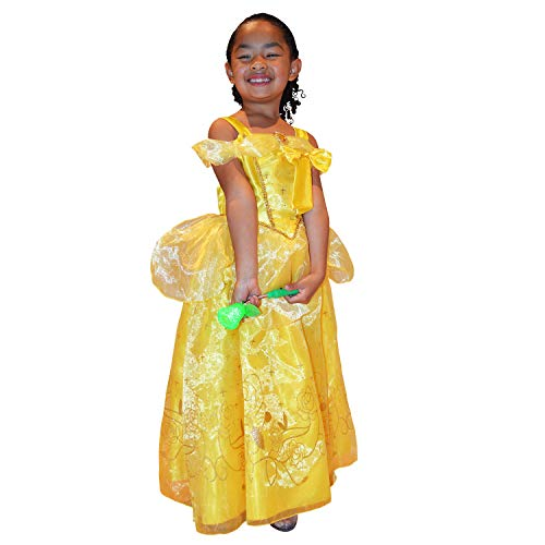 Princess Belle Dress Beauty and The Beast Princess Dress (Medium fits 3t/4t) Satin Cotton Organza Blend