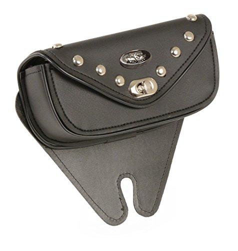 Small Black PVC Vinyl Motorcycle Windshield - Milwaukee Wallet Leather