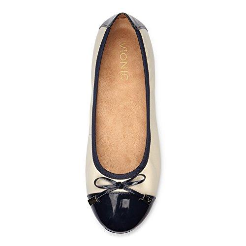 Donna VIONIC Cream VIONIC Flat Donna Navy Flat wrqIrCa