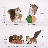 Squirrel Miniature Figurine Fairy Garden Dollhouse Decor Micro Landscape J S