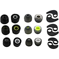 Zotech Accessory Pack for JayBird BlueBuds X, X2 & X3 Bluetooth Sport Headphones (3 Pair Memory Foam, 3 Pair SILICONE EAR FINS & 3 Pair Silicone Rubber Replacement Earbuds, Ear Tips)