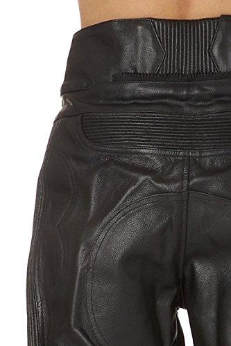 Amazon.es  Zerimar KENROD Pantalón de moto para mujer cuero de alta calidad  Color negro Talla XS 31ffb2ee21fb