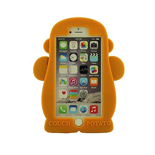 Apple iPhone 6 Plus 6S Plus 5.5 inch Coque Case Cartoon Mignonne Nain Vieil homme Doux Silicone Plastique Etui avec 1 Métal pendentif