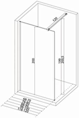 Mampara de ducha recta Concerto Walk 138 140 cm, altura 2 m, Vidrio templado de 6 mm, Tratado antical, perfil cromado Larg: Amazon.es: Hogar
