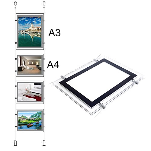 (LED Real Estate Sign for Window Advertising Display (1pcs A3 with 3pcs)
