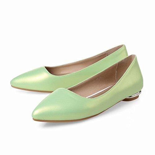 Carolbar Womens Pointed Toe Cuff Date Party Elegance Charm Fashion Low Heel Dress Shoes Mint Green HqXcg