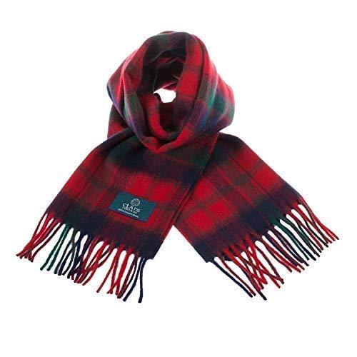 Scottish 100 /% Wool Tartan Clan Scarf Innes Clan Red !