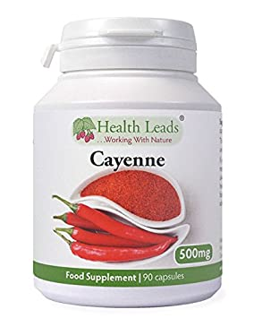 Cayenne Pepper 500mg X 90 Capsules 100 Additive Free Supplement