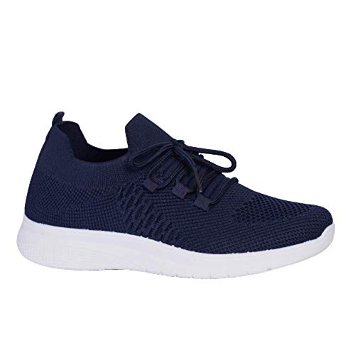 ACOSTAR Womens Running Walking Gym Sports Athletic Shoes with lace in Navy Beige Colour Price & Reviews