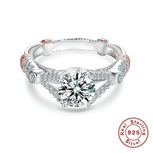 [Epinki Fashion Jewellry Silver Plated Womens Wedding Ring Round Cubic Zirconia Luxury Silver Size 7] (Girls Jade Princess Costumes)