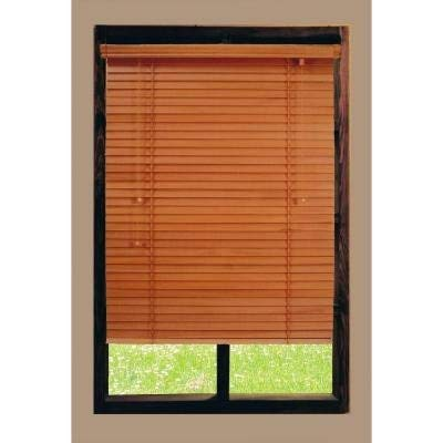 Golden Oak 2 in. Basswood Blind - 66 in. W x 64 in. L