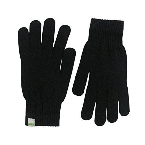 Minus33 Merino Wool Glove Liner Black, Black, Medium