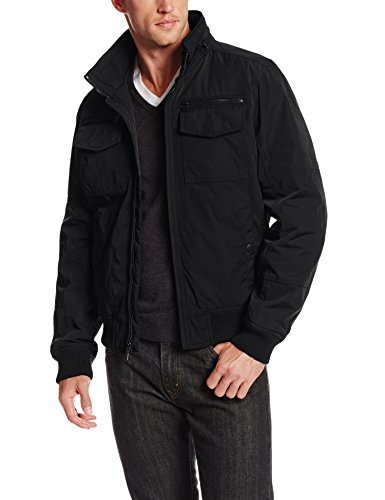 Tommy Hilfiger Men's Performance Bomber Jacket, Black, Large (Tommy Hilfiger Bomber Jacket)