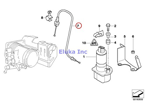 BMW Genuine Throttle actuator ASC+T Bowden Cable Ads 2 L=530MM/PBX 318i 318is -