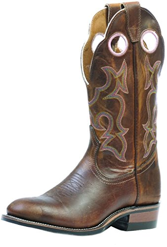 Boulet Womens Spice Rider Cowgirl Boot Round Toe - 297 Marrone