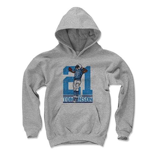 500 LEVEL LaDainian Tomlinson San Diego Chargers Youth Sweatshirt (Kids Large, Gray) - LaDainian Tomlinson Sketch 21 Flip L ()