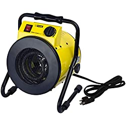 King Electric PSH1215T Portable Shop Heater with Thermostat, Yellow