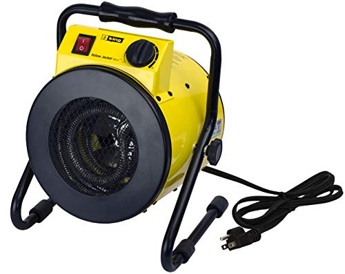 (King Electric PSH1215T Portable Shop Heater with Thermostat, Yellow)