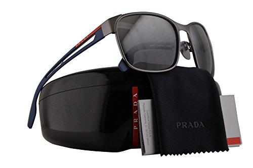 Prada PS52TS Sunglasses Gunmetal Rubber w/Polarized Grey Mirror Gradient Silver Lens 59mm DG12F2 SPS52T PS 52TS SPS - In Selena Sunglasses Gomez