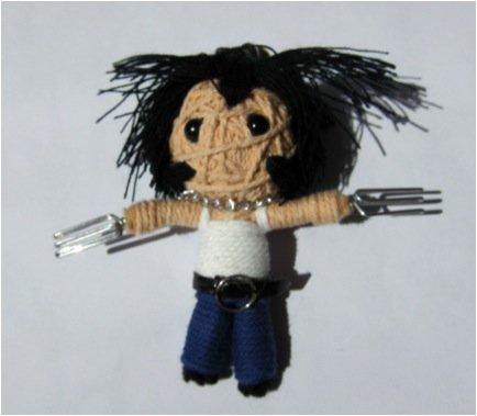 Wolverine Voodoo String Doll Keychain