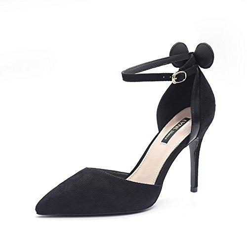 Y Fina Sandalias Alto Verano Tacón De Zapatos Mujeres De Con De Sandalias Tacón GAOLIM De Zapatos Los Negro Negro De Sandalias Tacón xZI0Hw6Rqn