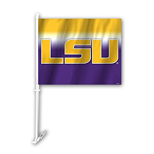 Fremont Die NCAA LSU Tigers Ombre Design Car Flag, 11