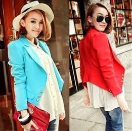 Women's Candy-colored single breasted small jackets