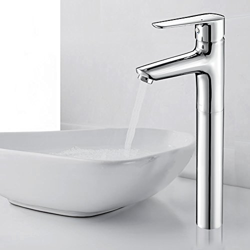 JOMOO Modern Single Hole Tall Bathroom Sink Faucet Single Lever High Arc Lavatory Faucets Hot And Cold Water Mixer Taps Tall - Ceramic Kitchen Lever