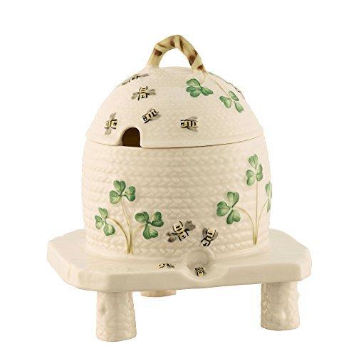 Belleek Masterpiece Shamrock Honey Pot (2018 Masterpiece Collection) by Belleek