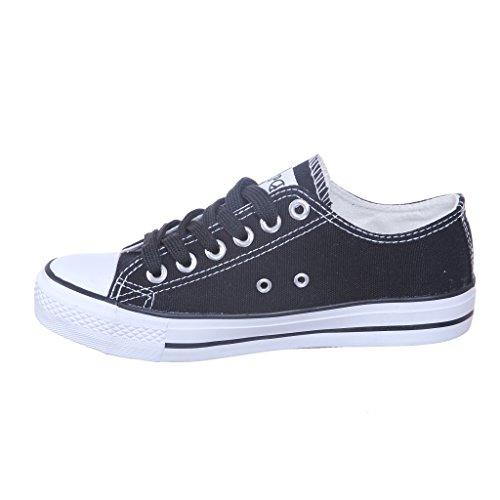 Womens STYLE NEW Classic Skate White Best Black Seller Sneaker Canvas PHxxnrd6w