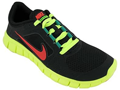 online retailer 65622 d4153 Amazon.com | Nike Free Run 3 (Youth) Black/Volt/Stadium ...