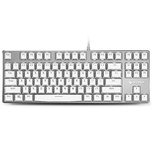 3l Crystal - Generic Rapoo V500S Ice Crystal 87 Key USB Wired White Backlit Mechanical Gaming Keyboard Brown Switch
